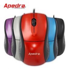 APEDRA Vezetékes egér optikai, M1, 1000dpi, USB, Ezüst