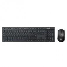 ASUS Vezeték Nélküli Billentyűzet + Optikai egér W2500 USB, Slim, Fekete
