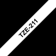BROTHER Festékszalag TZE211 P-TOUCH 6mm, BLACK ON WHITE