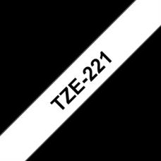 BROTHER Festékszalag TZE221 P-TOUCH 9mm, BLACK ON WHITE