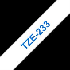 BROTHER szalag TZe-233, Fehér alapon Kék, Laminált, 12mm  0.47