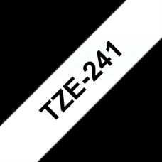 BROTHER Festékszalag TZE241 P-TOUCH 18mm BLACK ON WHITE Festékszalag