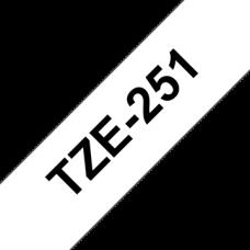 BROTHER Festékszalag TZE251 P-TOUCH 24mm fekete ON WHITE Festékszalag