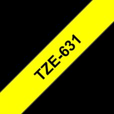 BROTHER Festékszalag TZE631 P-TOUCH 12mm fekete ON sárga Festékszalag