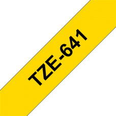 BROTHER szalag TZe-641, Sárga alapon Fekete, Laminált, 18mm  0.7
