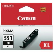 CANON Patron CLI-551BK XL, fekete, P7250, iP8750, MG5450, MG5550, MG6350, MG6450, MG7150, MX925