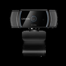 CANYON Webkamera CWC5, 1080p FullHD, USB 2.0 csatlakozással, autófókusz, fekete-ezüst
