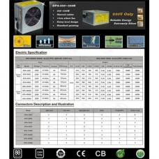 CHIEFTEC Tápegység iARENA 450W, 12cm, 20+4 OEM, 80+