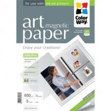 ColorWay Fotópapír ART series, hűtőmágnes (matt),  650 g , A4, 5 lap