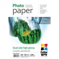 ColorWay Fotópapír , kétoldalas (fényes), 220g, A4, 50 lap
