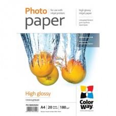 COLORWAY Fotópapír, magasfényű (high glossy), 180 g/m2, A4, 20 lap