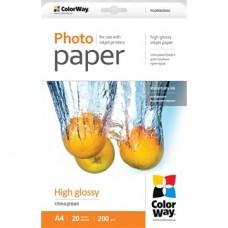 ColorWay Fotópapír , fényes 200g, A4, 20 lap