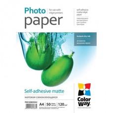 ColorWay Fotópapír , öntapadó (matt), 120g, A4, 50 lap