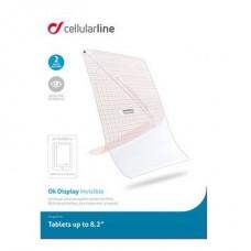 Cellularline Képernyővédő fólia, univerzális, tabletekhez, 8,2