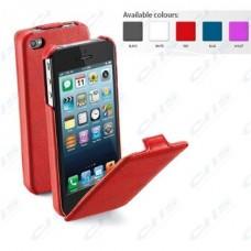 Cellularline Tok, FLAP, mobiltelefonhoz, eco-bőr, nyitható, iPhone 5/5S, lila