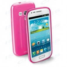 Cellularline Tok, SHOCKING, mobiltelefonhoz, gumi, Samsung GALAXY SIII / S3 mini ( Samsung i8190 ), rózsaszín