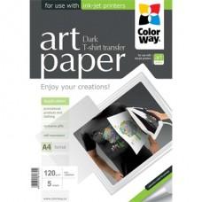 ColorWay Fotópapír ART series, pólóra vasalható fólia (sötét), 120 g , A4, 5 lap