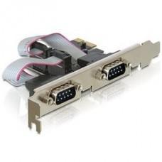 DELOCK PCI-e Bővítőkártya 2x Soros port + Low Profile