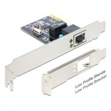 DELOCK PCI-e Vezetékes hálózati Adapter, 1x Gigabit LAN + Low Profile