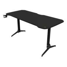 DELTACO GAMING Gaming table DT320, metal legs, adjustable height, built-in mouse pad, built-in hanger for headset, black