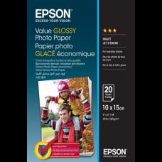 EPSON Fotópapír Value Glossy 10x15, 183 g/m2, 20 sheets