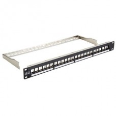 EXCEL Patch panel Moduláris 24 portos patchpanel 1U, fekete