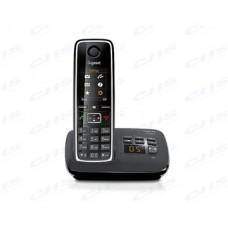GIGASET ECO DECT Telefon C530A fekete, üzenetrögzítő