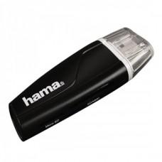 HAMA USB 2.0 Kártyaolvasó SDXC, Fekete