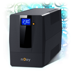 NJOY Szünetmentes + AVR Horus Plus 600, 600VA, 360W, Line-Interactive, LCD Touch display