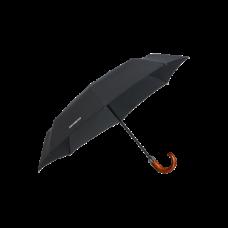 SAMSONITE Esernyő 108978-1041, 3 SECT. AUTO O C CROOK (BLACK) -WOOD CLASSIC S