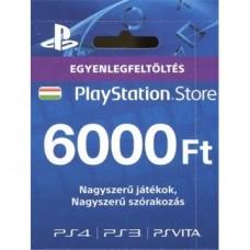 SONY PSN PlayStation Live Card (PS4) 6000 Ft, új cikkszám