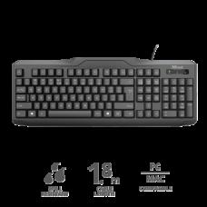 TRUST Vezetékes Billentyűzet 20628, ClassicLine Keyboard HUN
